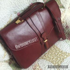 VTG Dooney & Bourke Bridle Leather Briefcase